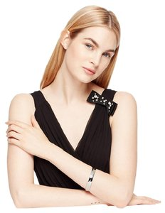Kate Spade Rodium plated this is the year engraved bangle