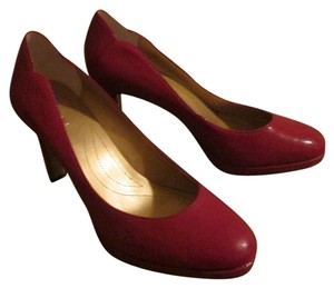 Tahari Patent Leather Red Pumps