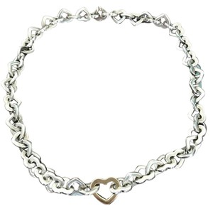 Tiffany & Co. Tiffany & Co. Sterling Silver/ 18K Yellow Gold Heart Link Necklace