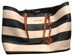 Michael Kors Blue/White Beach Bag