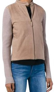 Tory Burch elk melange- beige Leather Jacket