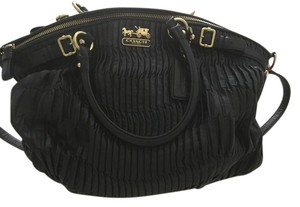 Coach Satin Lining Pleated Strap Shoulder Bag