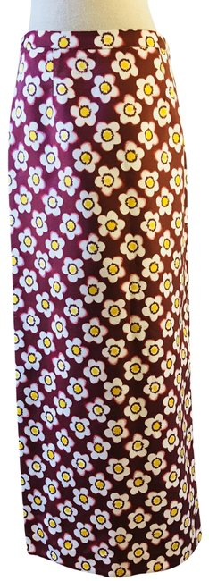 Item - Brown Floral Skirt Size 6 (S, 28)