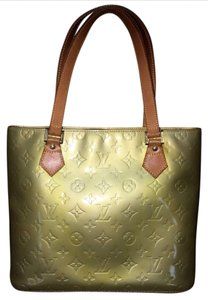 Louis Vuitton Patent Leather Monogram Vintage Tote in Gold