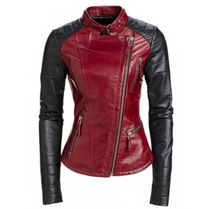 Other Black Motorcycle Biker Fitted Motorcycle Jacket