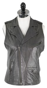 The Kooples Moto Leather Vest