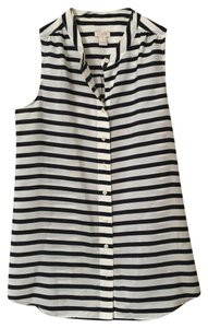J.Crew Top Navy & White