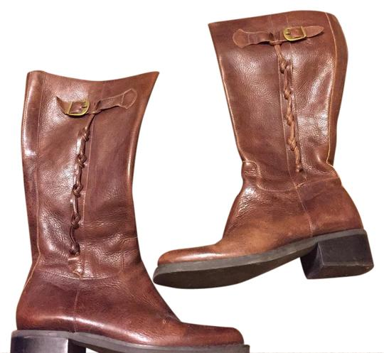 Preload https://img-static.tradesy.com/item/20709995/nicole-brown-leather-bootsbooties-size-us-65-0-1-540-540.jpg