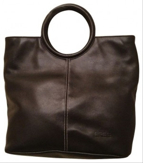 BREE Super Soft Leather Unique Round Handles Shoulder Bag