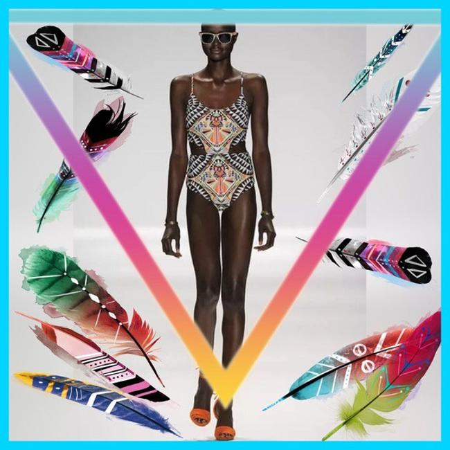 Other TRIBAL PRINT/Multi Color/One-Piece SwimSuit Image 2