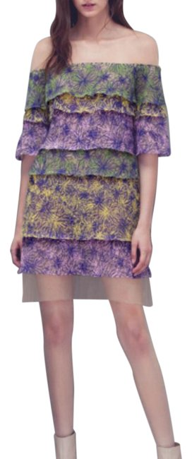 Item - Multicolor Genevieve Off-shoulder Short Casual Dress Size 00 (XXS)