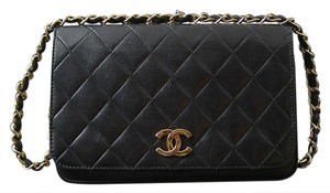 Chanel Vintage Lambskin Monogram Shoulder Bag