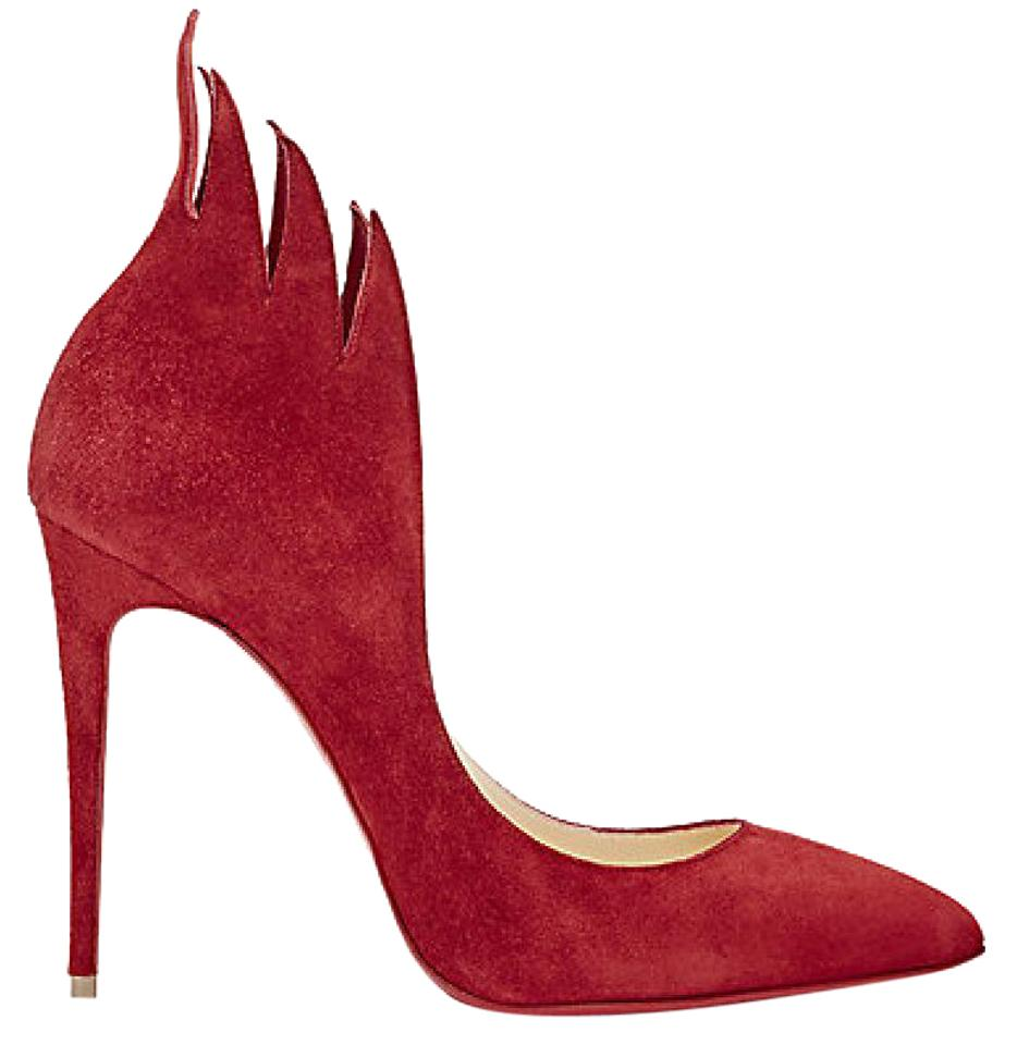 new arrival c6e0e 939d8 Christian Louboutin Red Victorina Flame Suede Carmin Pumps Size EU 39  (Approx. US 9) Regular (M, B) 31% off retail