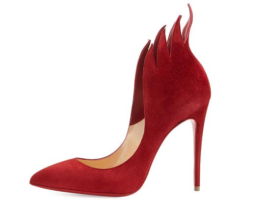 Christian Louboutin Heels Victorina Flame Red Pumps Image 1