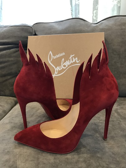 Christian Louboutin Heels Victorina Flame Red Pumps Image 2