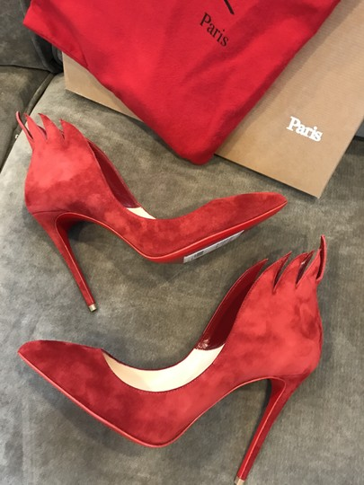 Christian Louboutin Heels Victorina Flame Red Pumps Image 3