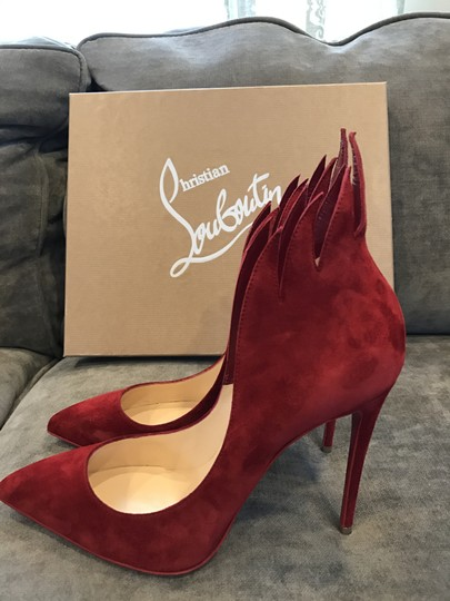 Christian Louboutin Heels Victorina Flame Red Pumps Image 4