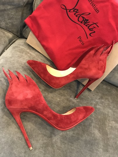 Christian Louboutin Heels Victorina Flame Red Pumps Image 6