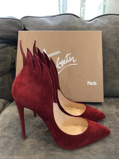 Christian Louboutin Heels Victorina Flame Red Pumps Image 8