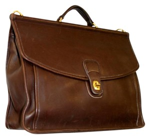 Coach Leather Business Tote in Black