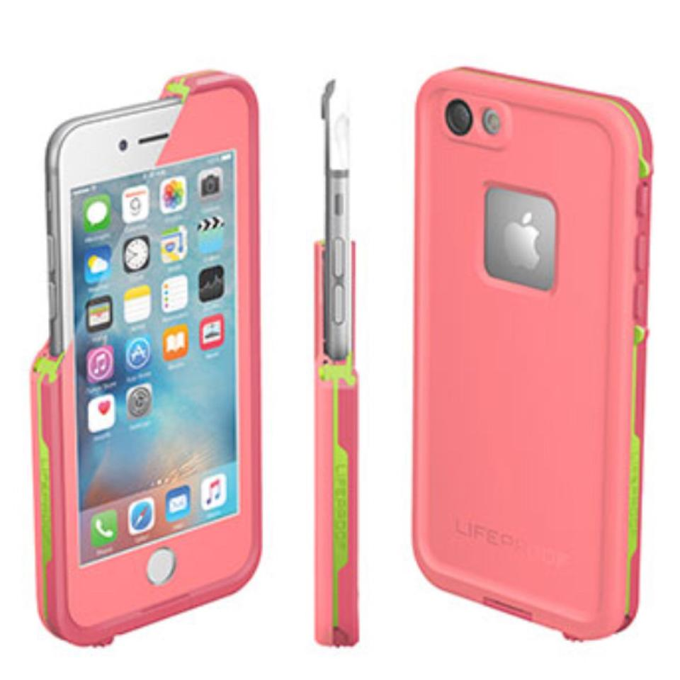 sports shoes f62ed 98be5 Lifeproof Pink and Green FrĒ For Iphone 6 Plus/6s Plus Case Tech Accessory  46% off retail