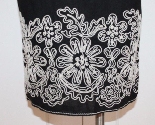 Max Studio short dress BLACK Linen Blend Embroidered Shift Floral on Tradesy Image 2