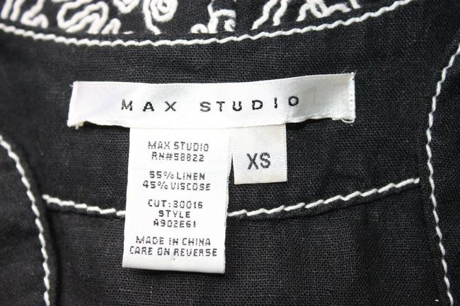 Max Studio short dress BLACK Linen Blend Embroidered Shift Floral on Tradesy Image 3
