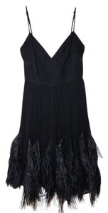 BCBGMAXAZRIA Feather Little Cocktail Formal Dress