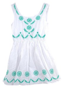 Tolula short dress White Embroidery Backless Linen on Tradesy