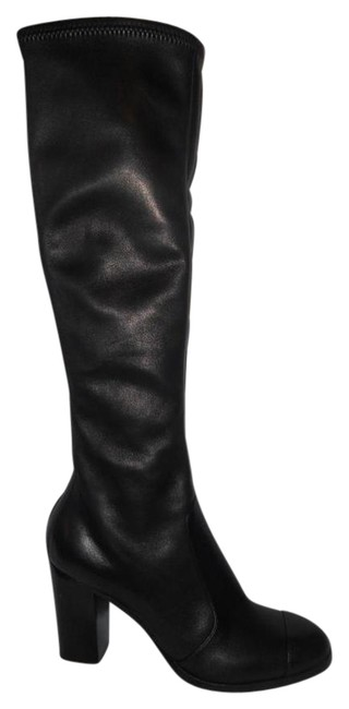 Chanel Black 12a Stretch Leather Knee High Tall Zip Cc Logo Boots/Booties Size EU 41.5 (Approx. US 11.5) Regular (M, B) Chanel Black 12a Stretch Leather Knee High Tall Zip Cc Logo Boots/Booties Size EU 41.5 (Approx. US 11.5) Regular (M, B) Image 1