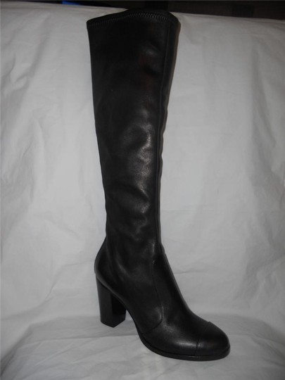 Chanel Cc Stretch Lambskin Black Boots Image 10