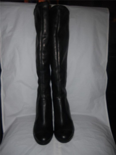 Chanel Cc Stretch Lambskin Black Boots Image 11