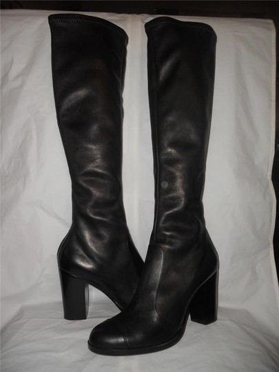 Chanel Cc Stretch Lambskin Black Boots Image 2