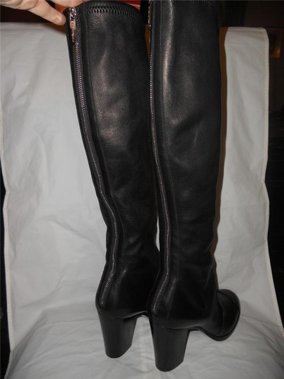 Chanel Cc Stretch Lambskin Black Boots Image 5