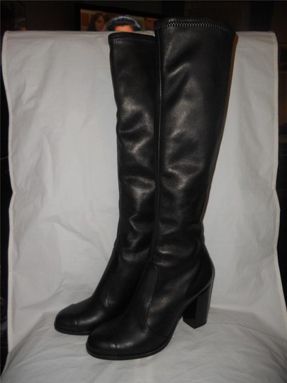 Chanel Cc Stretch Lambskin Black Boots Image 7