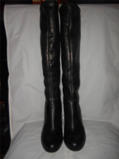 Chanel Cc Stretch Lambskin Black Boots Image 8