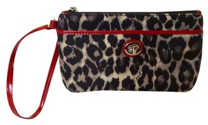 Coach Wallet Wristlet in Leopard and Red