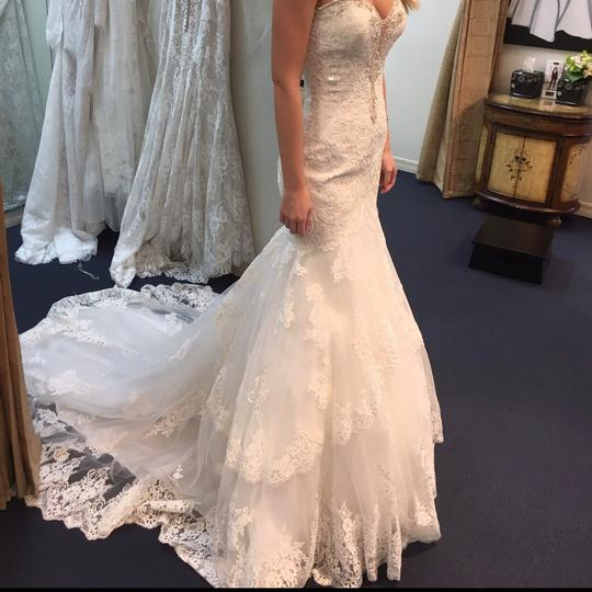 Allure Bridals Ivory/Silver Style 9376 Sexy Wedding Dress Size 6 (S) Image 3