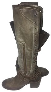 FreeBird Coal 6 Motorcycle 6 Women Size 6 Green Boots