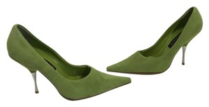 Steven by Steve Madden Green suede leather silver stiletto heels leather soles Pumps
