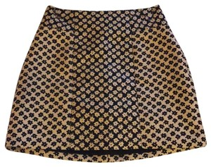 Cooperative Mini Skirt Black and gold