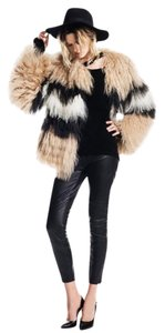 PAM & GELA & Mongolian Lamb Fur Colorblocked Fur Coat