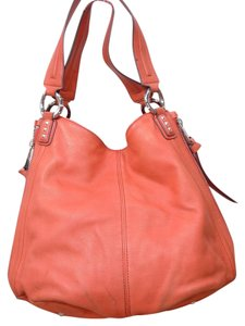 Aimee Kestenberg Tote Buttery Leather Satchel in coral