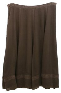 DKNY Brown Silk Skirt