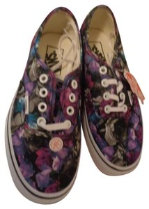 Vans New Floral Ladies Girls Sneakers MULTI Athletic