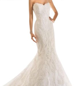 Essense of Australia Ivory Stella York 5840 Sexy Wedding Dress Size Petite 2 (XS)