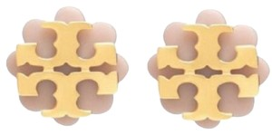 Tory Burch two tone flower earrings