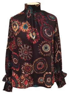 Nanette Lepore Prints Red Prints Fashion Top Floral