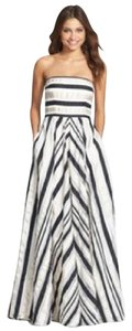 Adrianna Papell Ribbon Stripe Strapless Dress Dress