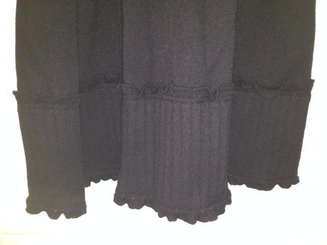 Chanel Cashmere Warm Classic Chic Unique Knitted Career Night Out Date Night Skirt Black